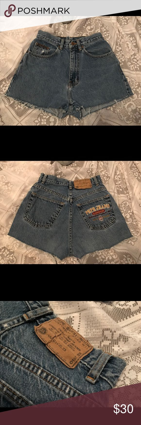 Vintage Distressed Pepe Shorts Vintage distressed Pepe Shorts. Size 26, but could pass for a size 25. Pepe Jeans Shorts Jean Shorts