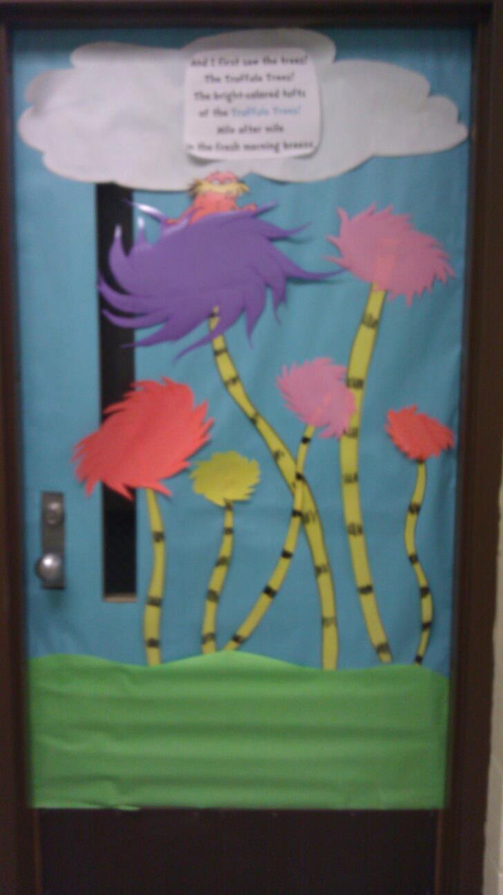 Lorax Door For Dr Seuss Day Classroom Crafts Dr Seuss