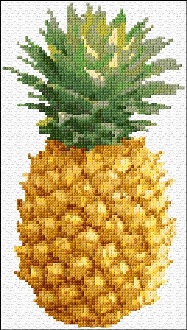 Free cross stitch pattern for pineapple