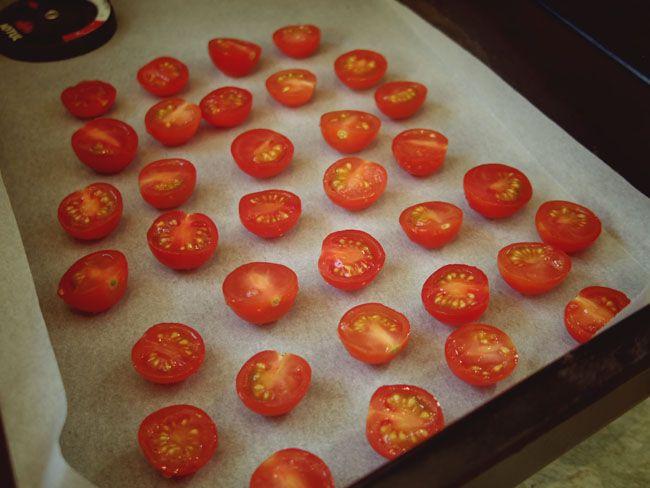 アンコールの灰受けで「ドライトマト」を仕込む