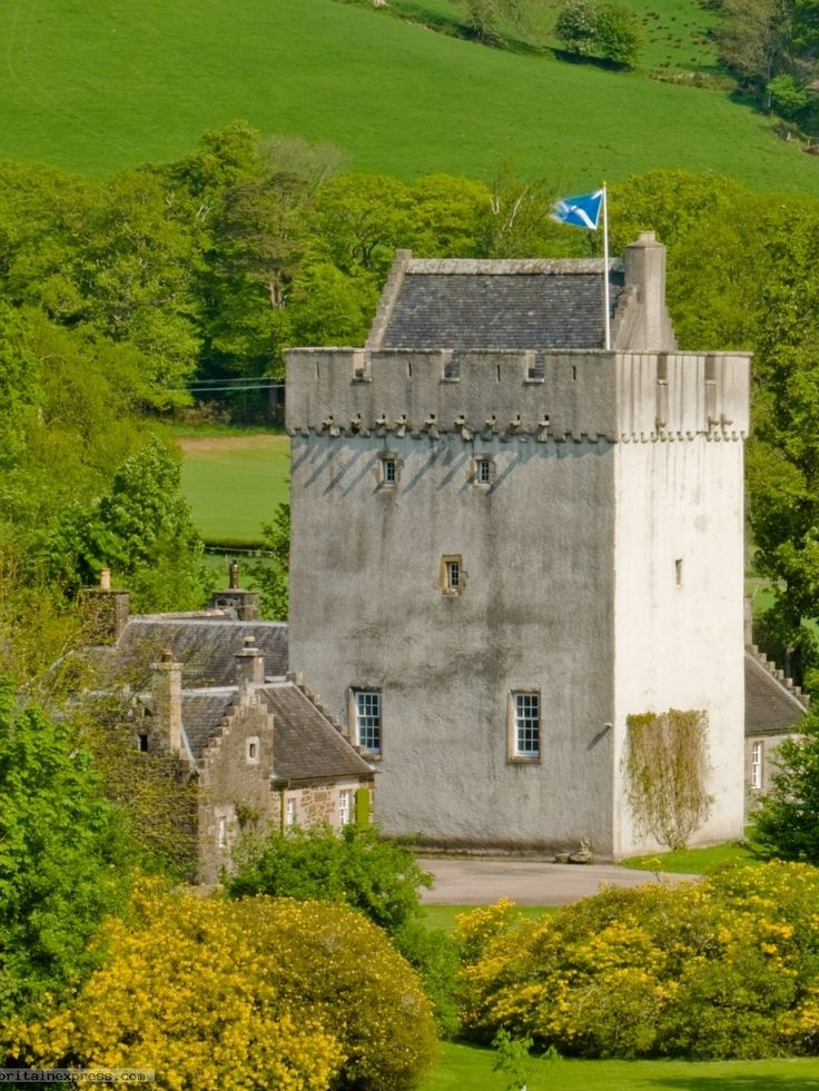 Kames Castle, Argyll and Bute, Scotland-14th century tower.