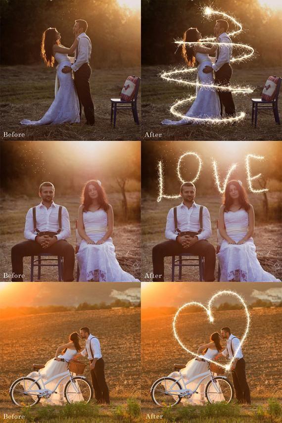 Sparkler Photoshop Overlays – Wedding Sparklers, Long Exposure, Sparklers Overlays, Photo Overlays,