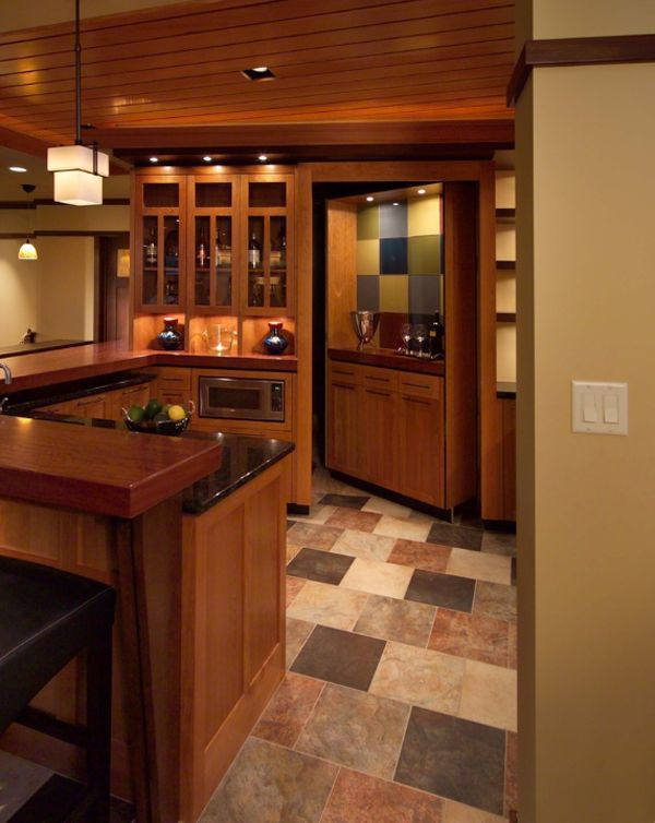 I never saw a kitchen with a secret door, but here's one.