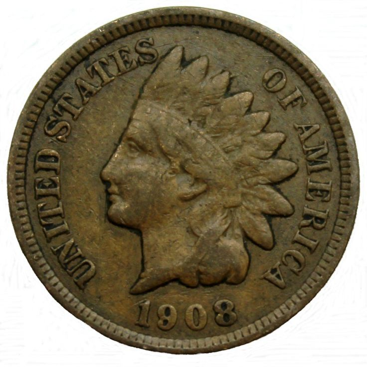 1908 U.S. Indian Head Cent / Penny Coin at Amazon's Collectible Coins Store
