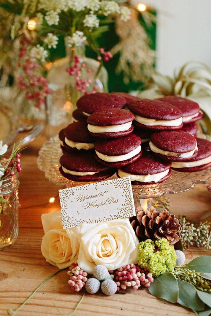 Свадебные сладости в цвете марсала