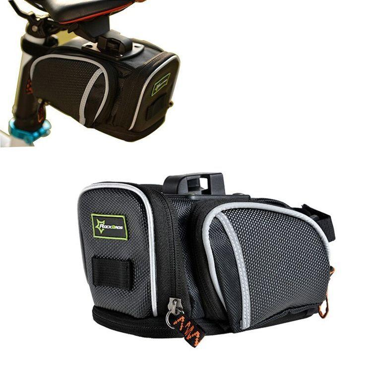 Rockbros Fahrradtasche Wasserdicht Mountain Road Fahrradtasche Satteltaschen Reflektierend Radfahren Outdoor Sattel Rucksitz Bag In Fahrradtaschen Packtaschen