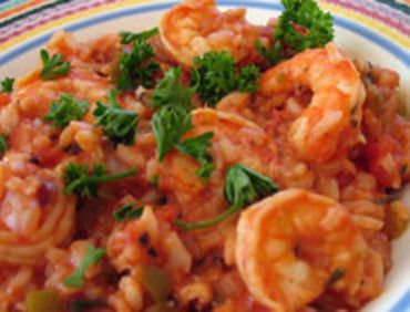Jambalaya - made this and it turned out great. Used 3 cups of chicken broth and 1 whole can of rotel tomatoes and green chilis.