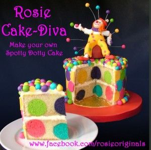 Spotty Dotty Cake   Maybe not EXACTLY this, but the idea of the fun dots inside!!