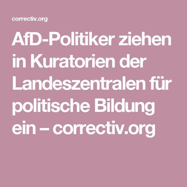 AfD-Politiker ziehen in Kuratorien der Landeszentralen für politische Bildung ein – correctiv.org