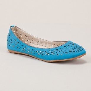 Blue Flats with Cut-Outs.