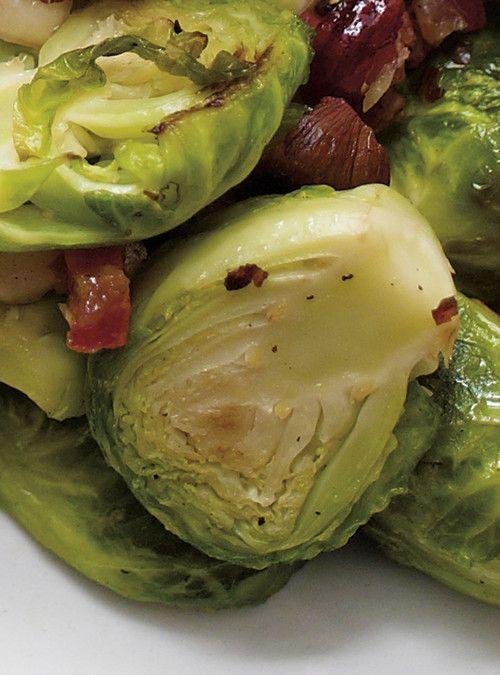 Choux de Bruxelles au bacon et aux pacanes d'H�l�ne Laurendeau Recettes | Ricardo