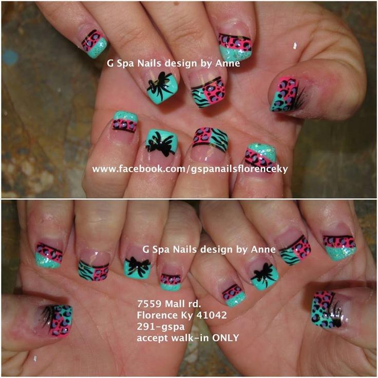 zebra cheetah nail design nails