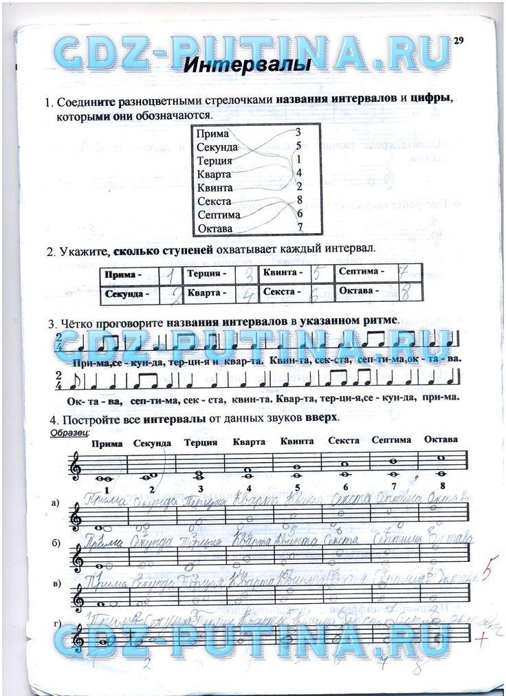ГДЗ по сольфеджио 1 класс Калинина рабочая тетрадь