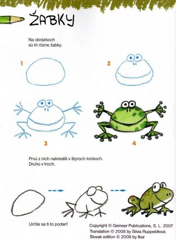 kikker tekenen met kleuters                              …