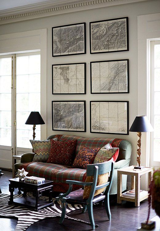 Inside The Unforgettable Home Of A Powerhouse Design Duo Framed MapsLiving Room SeatingReading