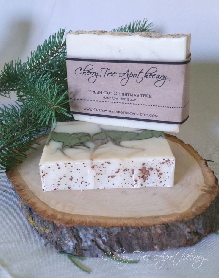 Fresh Cut Christmas Tree Handcrafted Soap - Christmas Soap - Holiday Soap -Christmas Gift - Vegan Soap - Winter Soap - Bar Soap by CherryTreeApothecary on Etsy https://www.etsy.com/listing/255359934/fresh-cut-christmas-tree-handcrafted