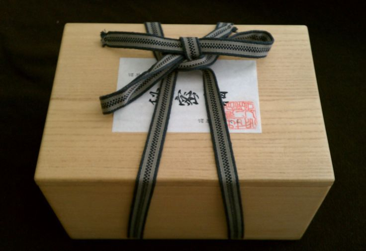 The wrapping of the 6 Sun 54 Step Yosegi Puzzle Box