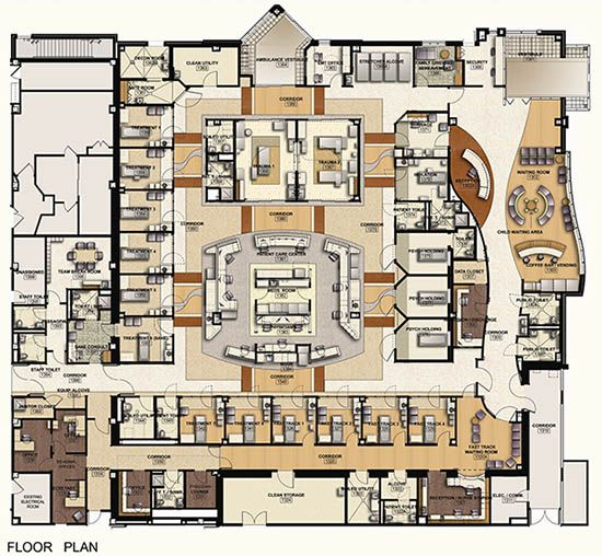 Community pediatric clinic layout google search projects to try pinterest waiting area for Emergency room design floor plan
