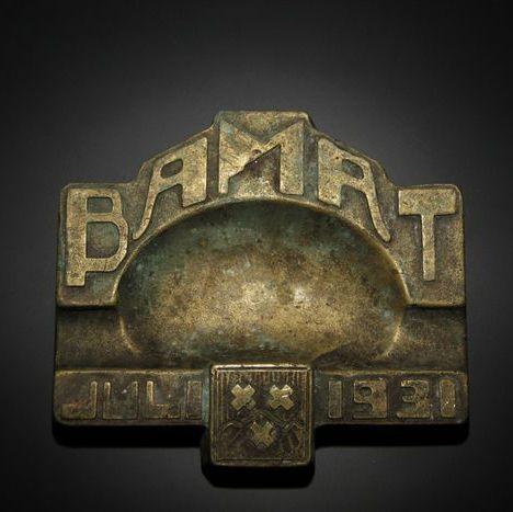 "Online veilinghuis Catawiki: Zeldzame bronzen Art Deco asbak, ""B.A.M.A.T."" - Nederland, anno 1931"