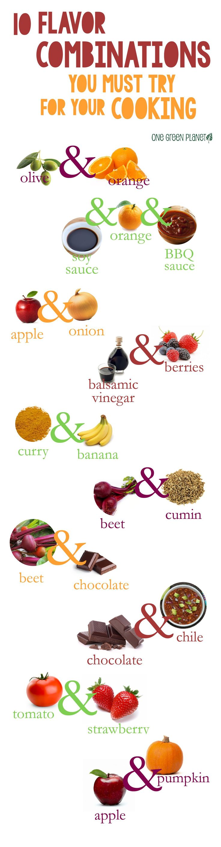 New flavor combinations to try when cooking!