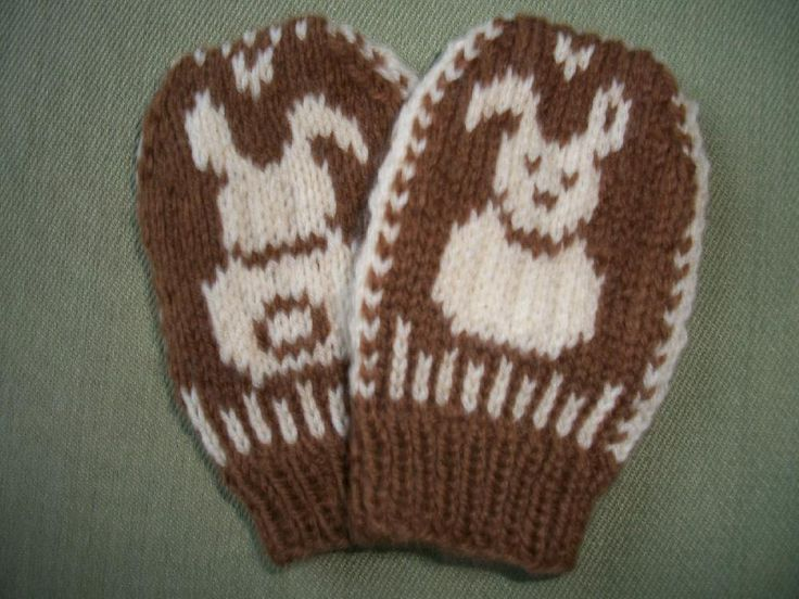 Baby Bunny mittens knitting pattern by Snowy Woods Knits is perfect for a newborn or young baby. Get the Downloadable PDF from Loveknitting.