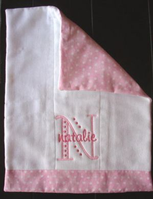 Cloth Diaper, Back with fabric of choice, and embroider