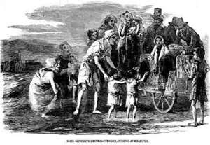 """The Great Irish Potato Famine.  Remember this on March 17th when you hear the song """"When Irish Eyes Are Smiling"""".  Say a prayer for the poor Irish souls."""