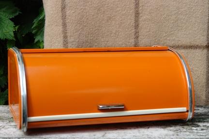 Vintage Orange Bread Box Love all things Orange )   Orange things   Pinterest   Bread boxes and Vintage metal & Vintage Orange Bread Box Love all things Orange :)   Orange things ... Aboutintivar.Com