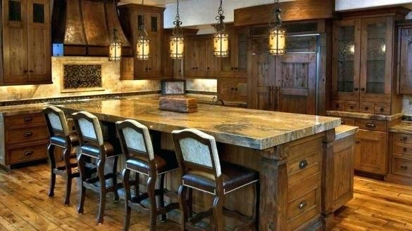 Pendant Lighting Bar Luxury Rustic Kitchen Rustic Kitchen