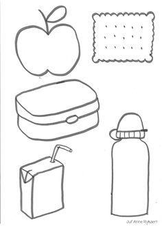 wat zit er in mijn schooltas - Op verschillende gekleurd papier afdrukken en daarna in de juiste boekentas doen