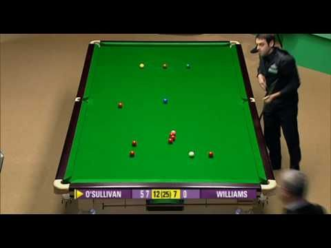 Ronnie O'Sullivan 147 at the 2008 Snooker World Championship. Probably the greatest frame of snooker ever played.