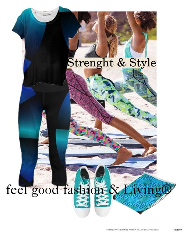 "My Boho Acrive Wear  Collection is made to feel Good""      *See 100 more looks'         Feel Good Fashion & Living® www.marijkeverkerkdesign.nl  Athletic sports leggings, women's athletic sports shirts, converse sneakers, designer sports bag"