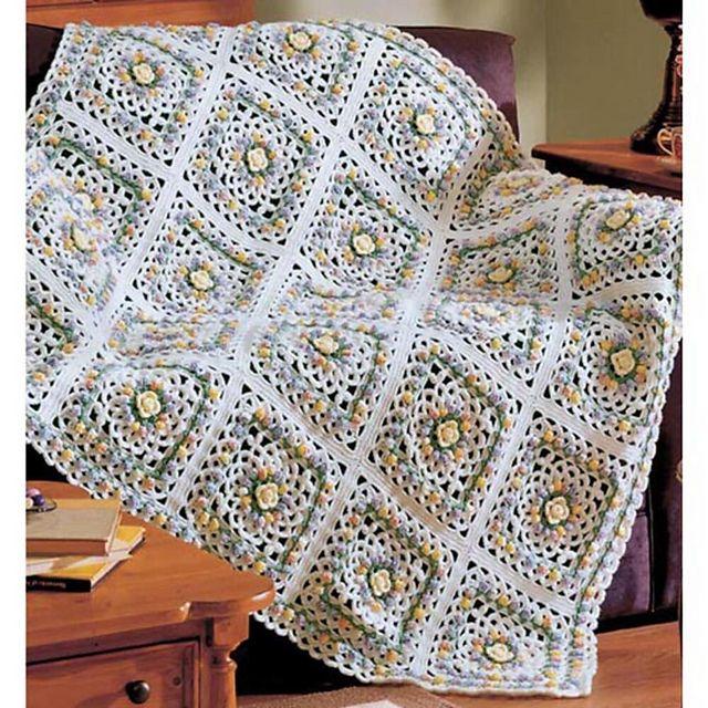 Mejores 141 imágenes de Crochet granny squares en Pinterest | Punto ...