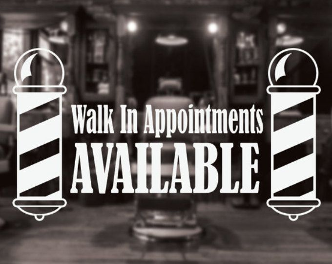 Muestra de peluquero de la tienda, etiqueta de la tienda de peluquero, peluquero tienda puerta etiqueta, etiqueta de la ventana de barber shop