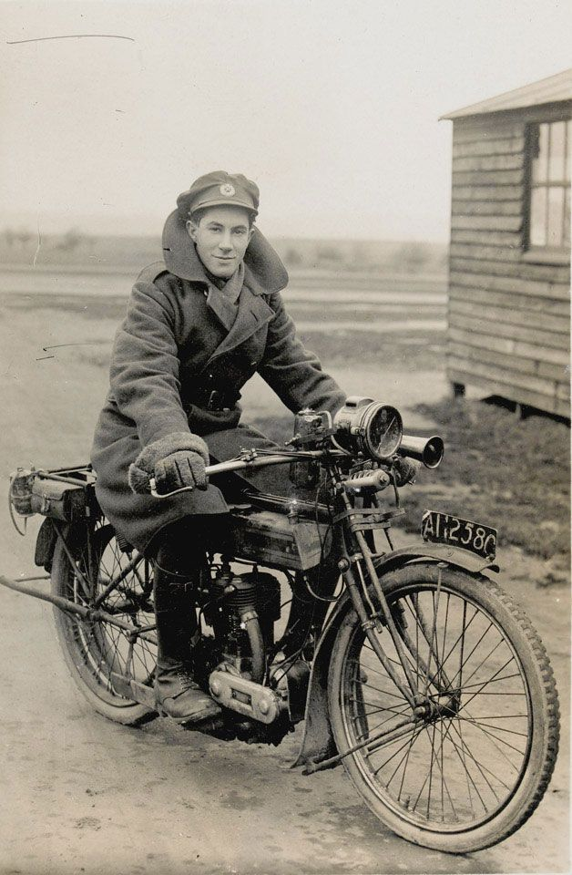 A Royal Engineers dispatch rider (ca. 1917)