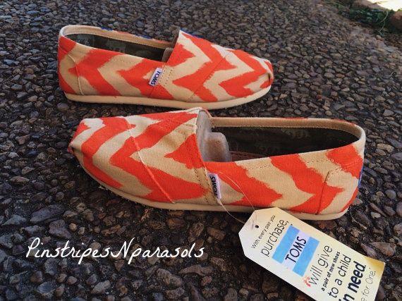 Ikat Chevron Toms by pinstripesNparasols on Etsy, $80.00