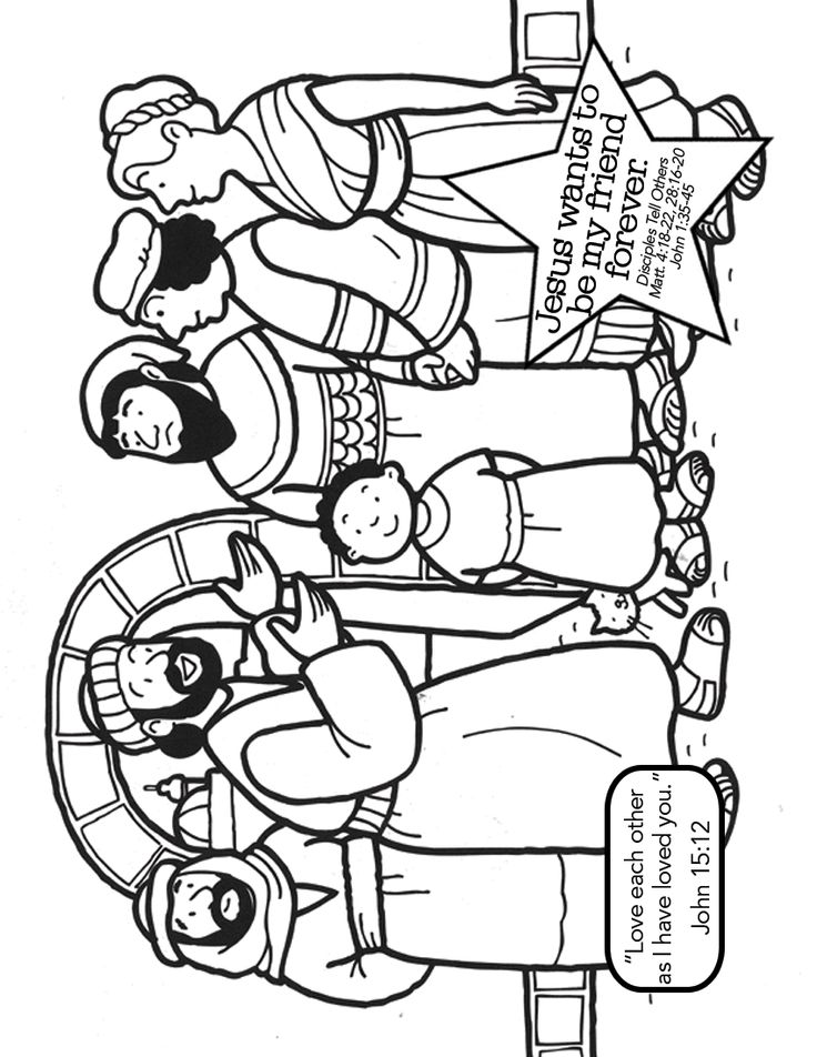 matthew 8 coloring pages - photo#22
