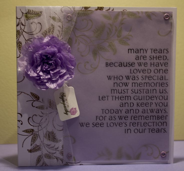 Religious Sympathy Quotes For Loss Of Mother: Homemade Sympathy Card Loss Of Mother