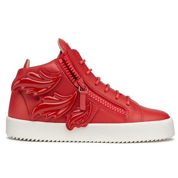 Giuseppe Zanotti Cruel ($548) ❤ liked on Polyvore featuring shoes, sneakers, red, lacing sneakers, laced sneakers, giuseppe zanotti trainers, giuseppe zanotti shoes and red shoes