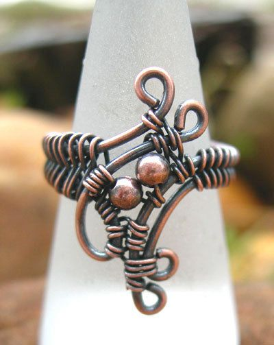 unique copper ring wire wrapped ring wire by Kissedbyclover