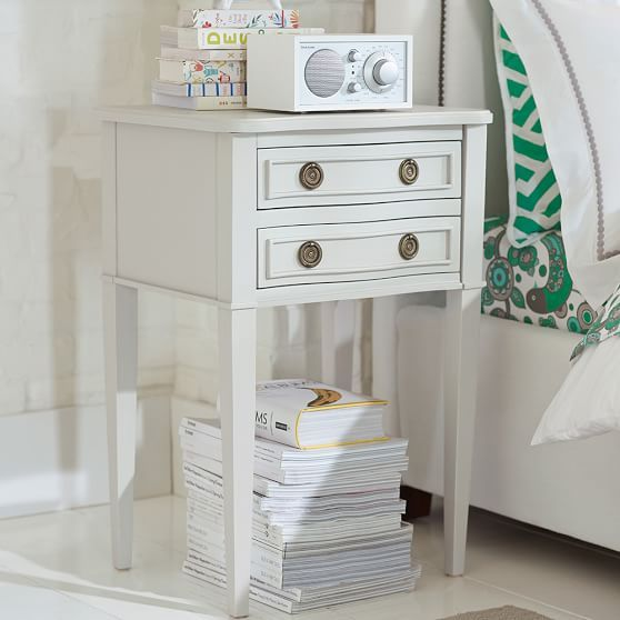 Ashton Eclectic Bedside Table | PBteen ... what about 2 of these in your bedroom?