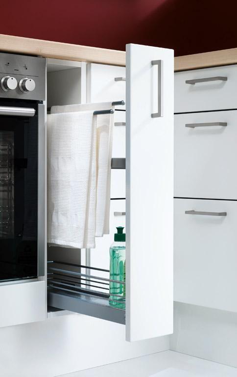 kuchenschranke einraumen : Schmaler Apothekerauszug