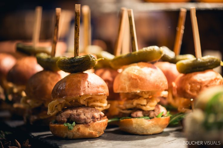 Spice of Life Catering at the Vermont Wedding Affair: duck sliders with fried onions and cranberry garlic aioli