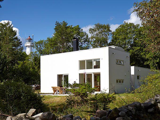 Hytte på Jomfruland: moderne og vedlikeholdsfri hytte - Funkishus - murhus -  pusset fasade - Leca