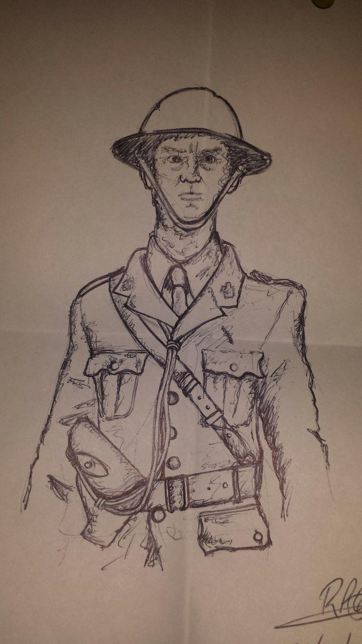 British WWI Soldier (Pen)