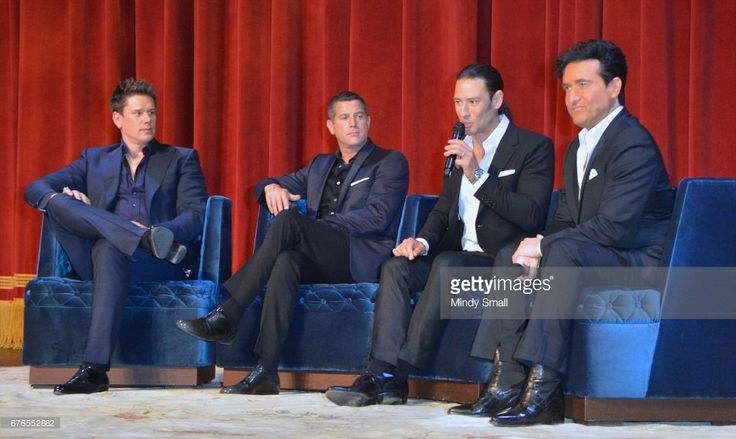 Singers David Miller, Sebastien Izambard, Urs Buhler and Carlos Marin of Il Divo attend a news conference announcing the group's September six-show headlining engagement, 'Il Divo - This is Your Night: Live in Las Vegas' at The Venetian Las Vegas on May 2, 2017 in Las Vegas, Nevada.