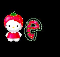 Alfabeto de Hello Kitty con frutas. | Oh my Alfabetos!