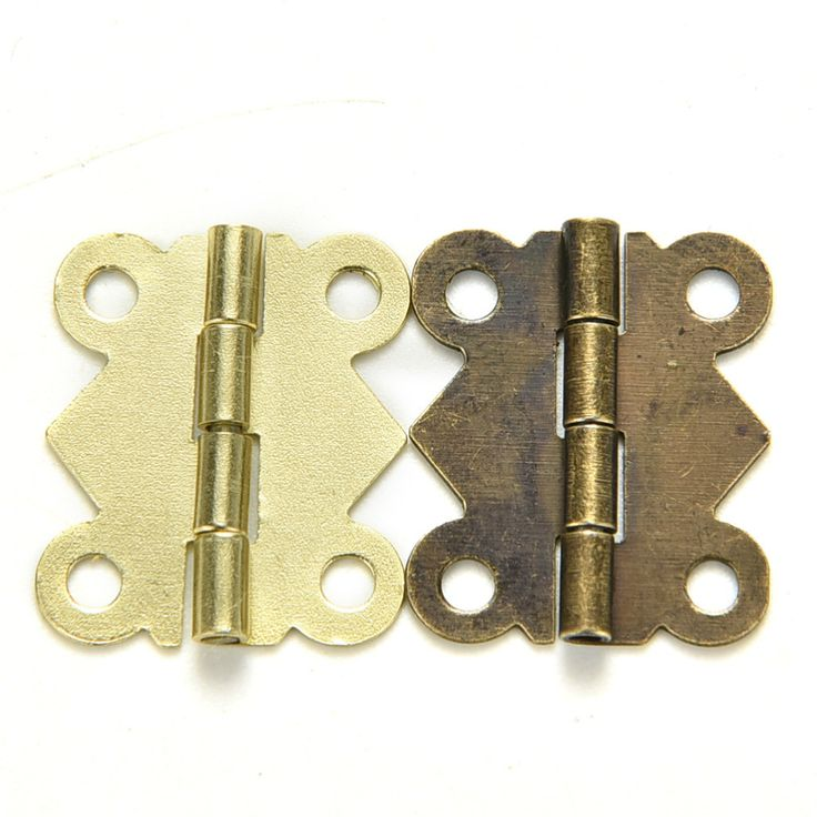 Fashion Design bronze Yellow Color Mini Butterfly Hinges Cabinet Drawer Jewelry Box DIY Repair 10pcs