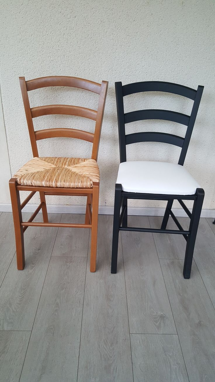 Painted Straw Chairs With Leather Seat In 2020 Furniture Furniture Hacks Chair