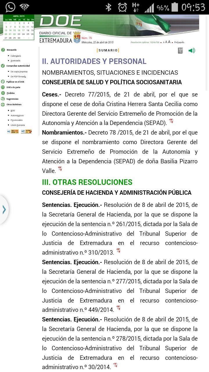 Las disposiciones del DOE.